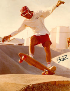 Bill Zuehl Americana Skate Park 1977. (photo by Mitch York)
