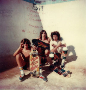 Bob Harper, Roger Bishop, Brian Schroeder at the Tidy Bowl 1977.